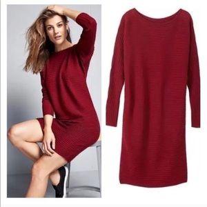 Athleta | Cranberry Merino Sweater Dress